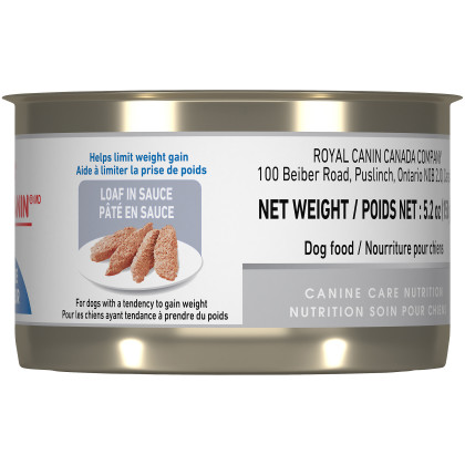Royal Canin Canine Health Nutrition Adult Weight Care Loaf Canned Dog Food