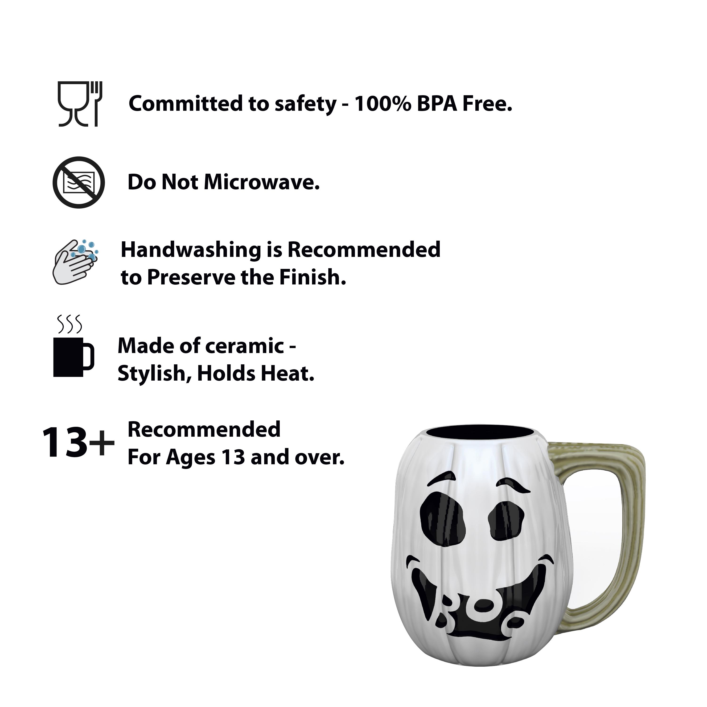 Halloween 15 ounce Coffee Mug and Spoon, Ghost Pumpkin slideshow image 7