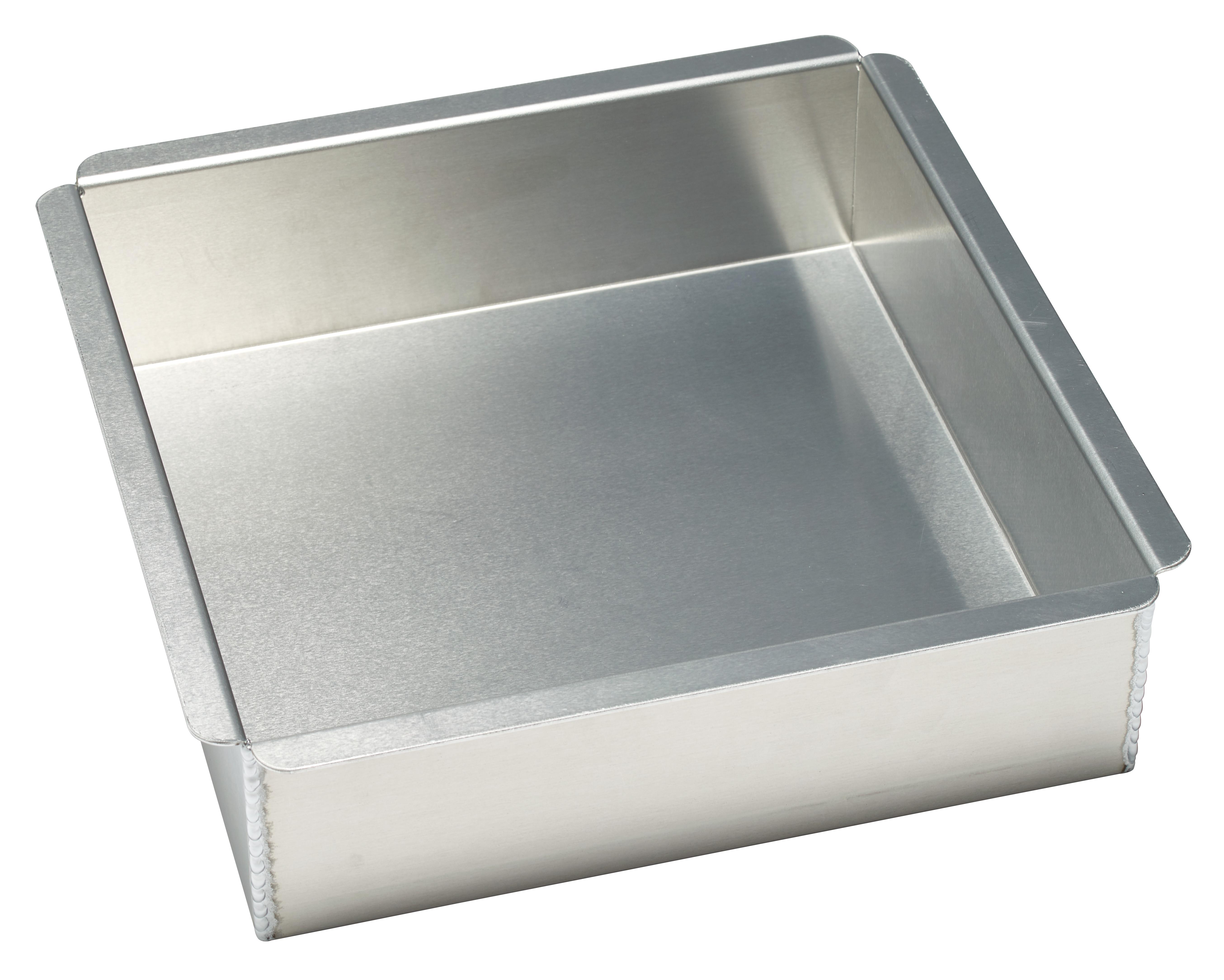 14 Gauge Square Aluminum 10 Quot L X 10 Quot W X 3 Quot H Pan Decopac