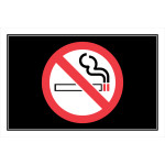 No Smoking Adhesive Sign with Symbol