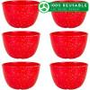 Confetti 24 ounce Soup Bowl, Red, 6-piece set slideshow image 1