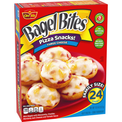 Bagel Bites Three Cheese Pizza Snacks 24 count Box