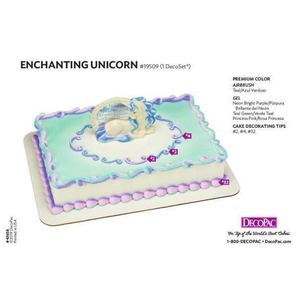 Enchanting Unicorn Cake Decorating Instruction Card