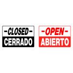 "Spanish / English Open / Closed Sign (8"" x 12"")"