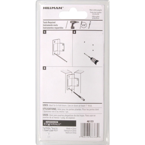 Hardware Essentials Brass Surface Mount Non Mortise Hinge 3