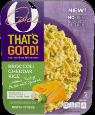 O That's Good! Broccoli Cheddar Rice 18 oz Tray