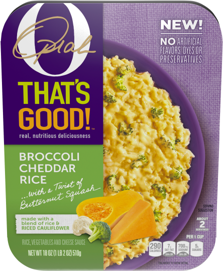 O That's Good! Broccoli Cheddar Rice 18 oz Tray