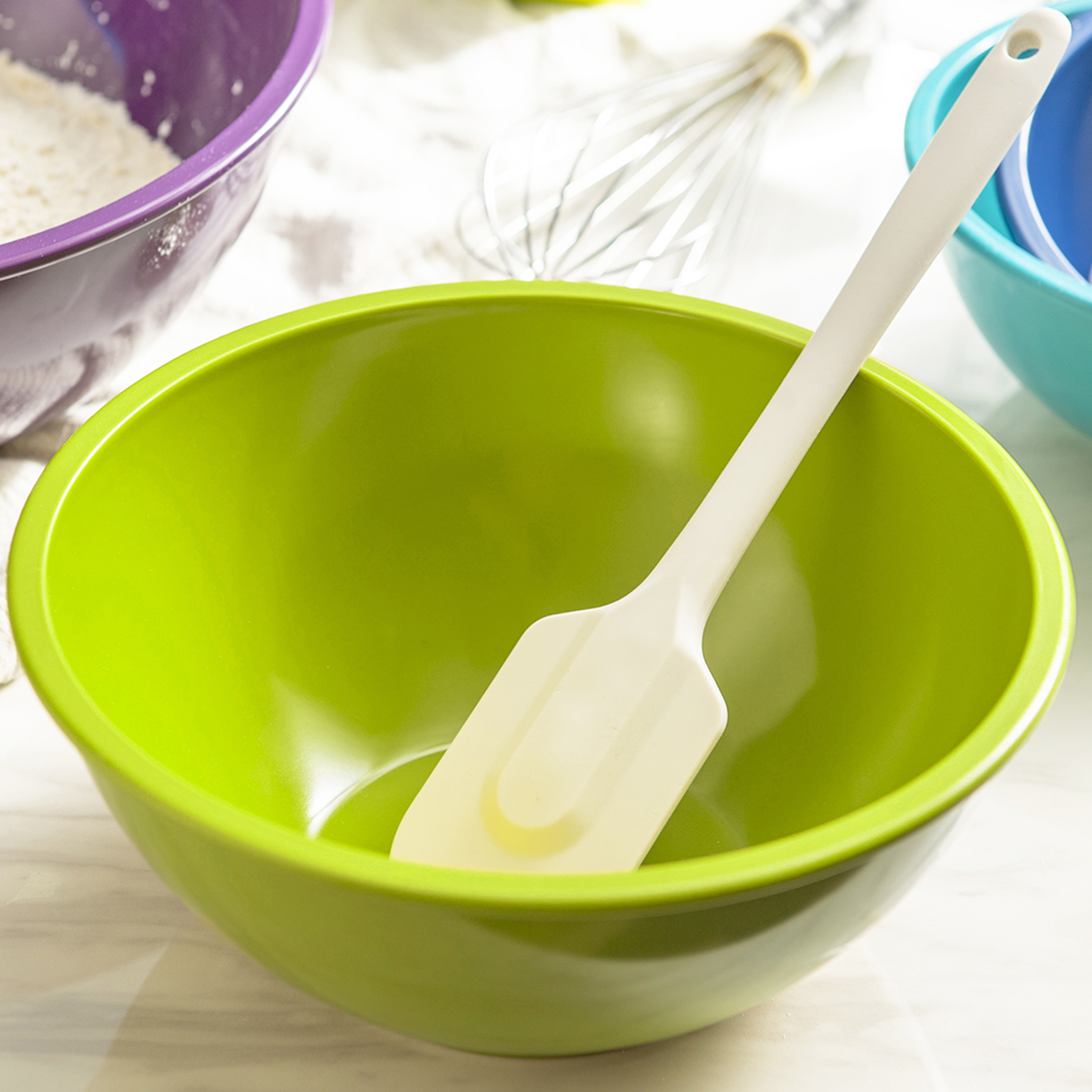 Colorway Plastic Serving and Mixing Bowl Set, Blue and Red, 5-piece set slideshow image 7