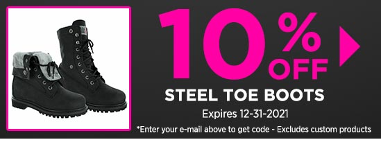 10% Off Steel Toe Boots