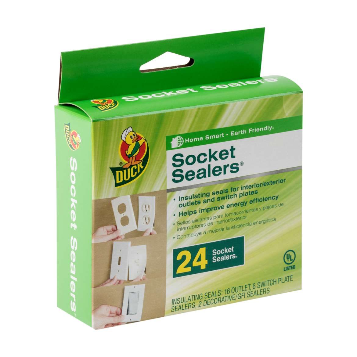 Duck® Brand Socket Sealers® Insulating Seal - 4.25 in. x 2.5 in. Image