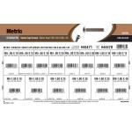 Stainless Steel Metric Button-Head Socket Cap Screws Assortment (M5-0.80 & M6-1.00 Thread)
