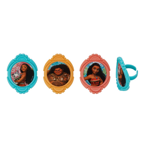 Moana Voyagers Cupcake Rings