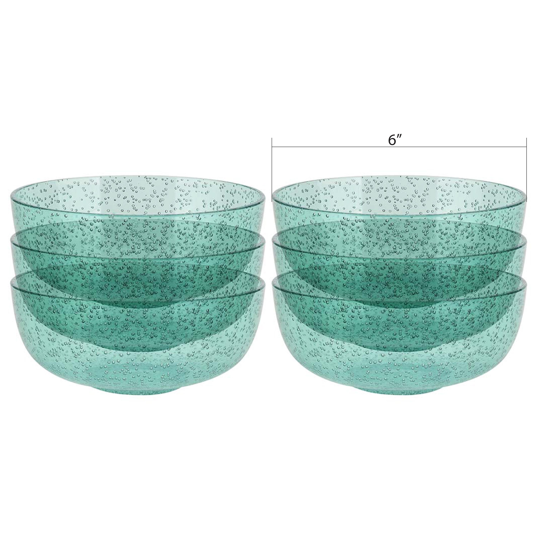 Spritz 29 ounce Soup Bowl, Mint, 6-piece set slideshow image 8