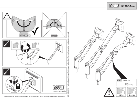 LiftTEC® Monitor Arms User Guide
