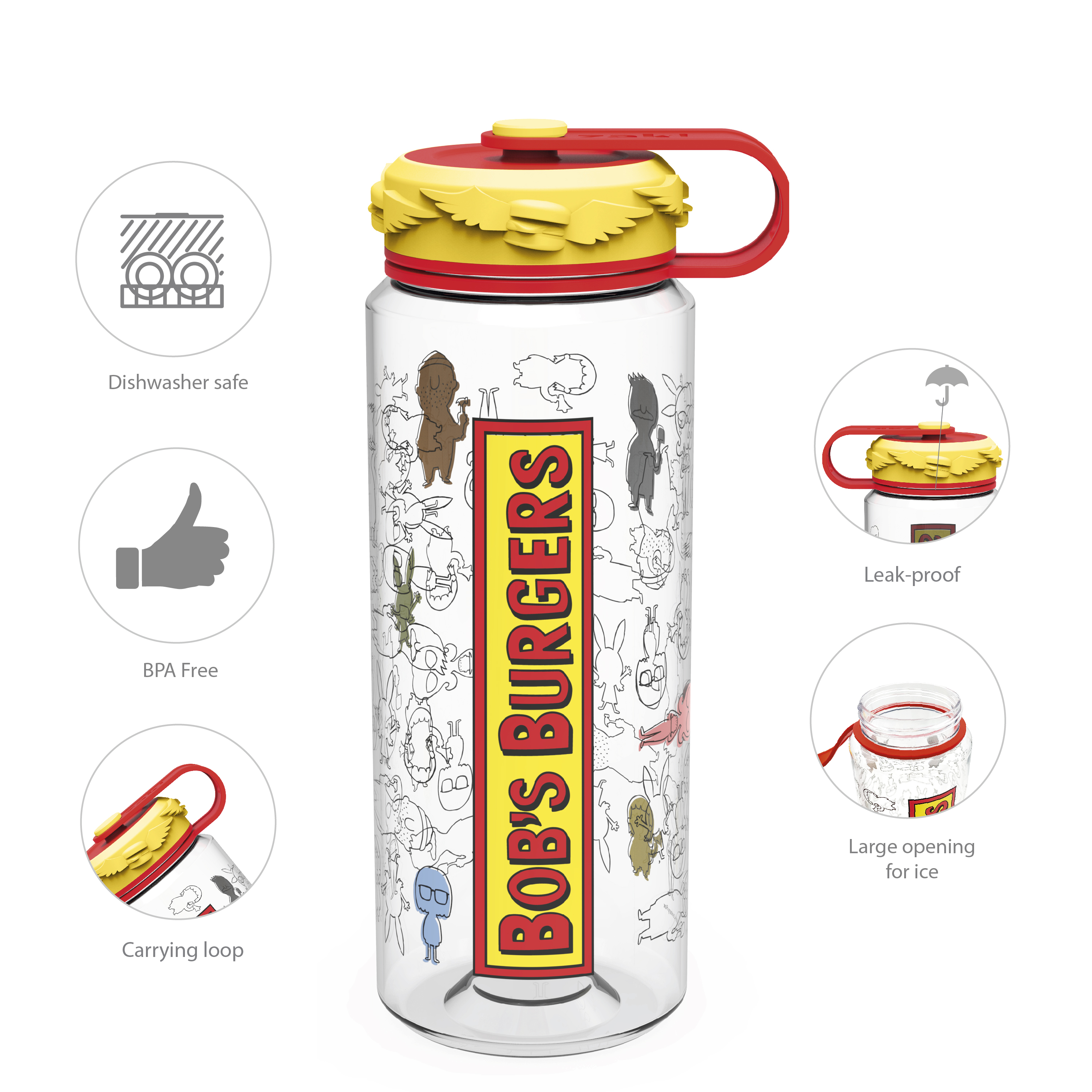 Bobs Burgers 36 ounce Water Bottles, The Belcher Family slideshow image 5