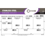 """Stainless Steel Eye Bolts with Nuts Assortment (#10-24 Thru 3/8""""-16)"""