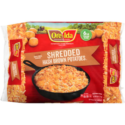 Ore-Ida Country Style Shredded Potatoes Hash Browns 6 lb Bag