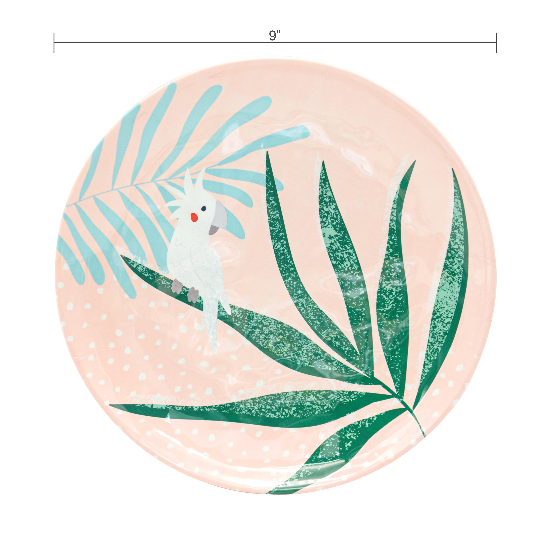 Summer Prints Dinnerware Set, Pink Tropics, 12-piece set slideshow image 6