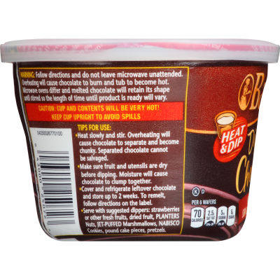 Baker's Dipping Chocolate Real Dark Semi-Sweet Chocolate, 7 oz Tub
