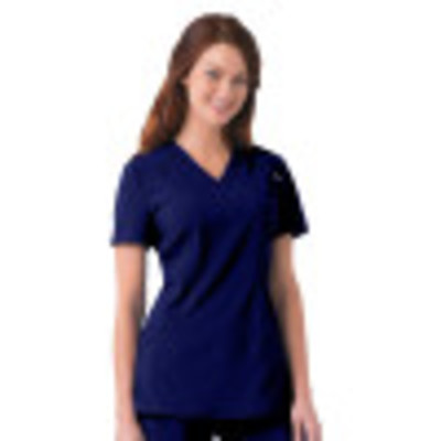 Urbane Performance Scrub Top for Women: 2 Pocket, Modern Tailored Fit, Extreme Stretch, Moisture Wicking, Sweet Heart Neck 9070-