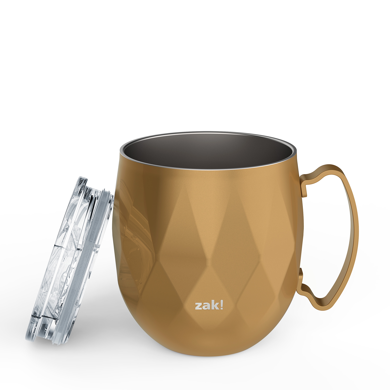 Fractal 19 ounce Mule Mug, Copper slideshow image 5