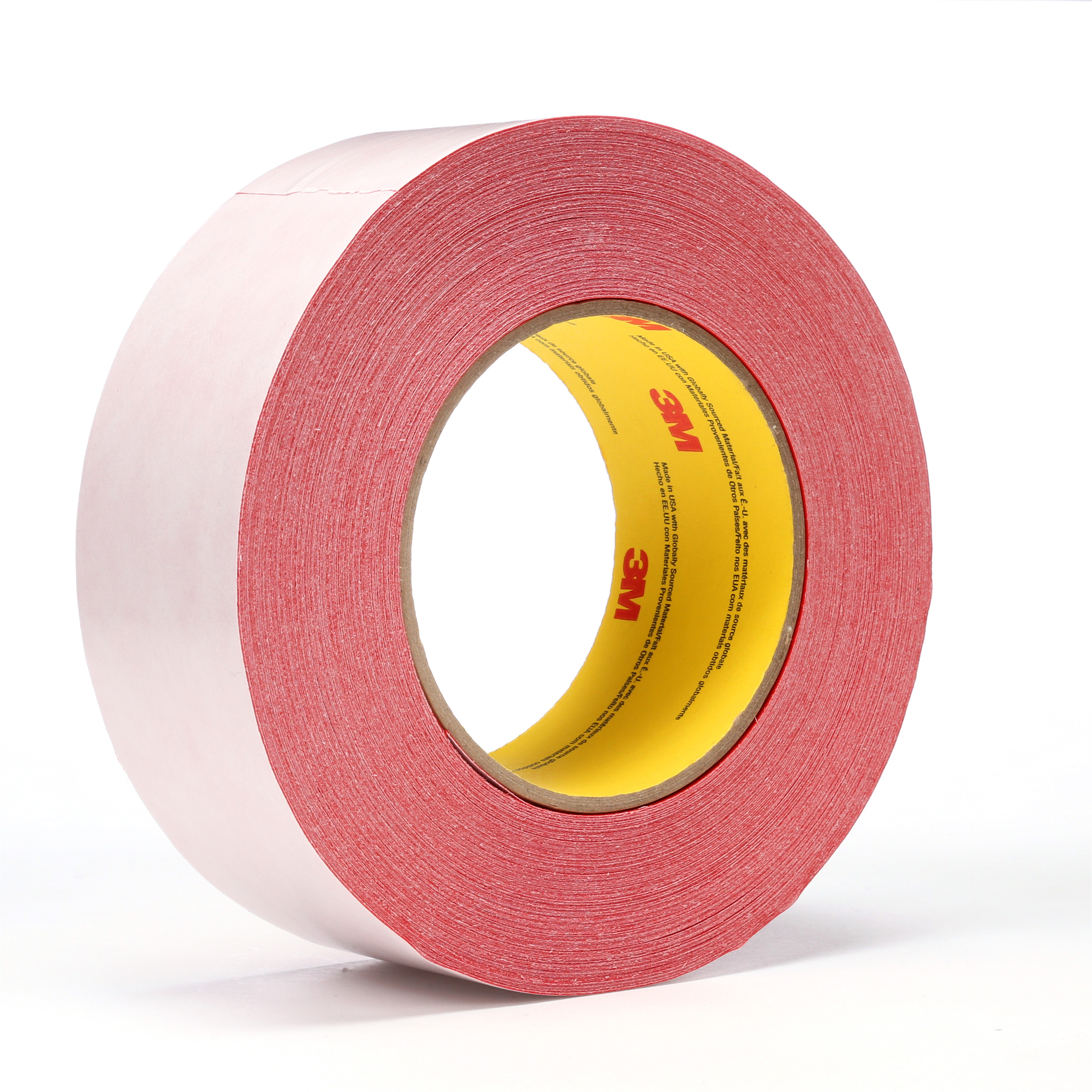 3M™ Double Coated Tape 9737R, Red, 48 mm x 55 m, 3.5 mil, 24 rolls per case