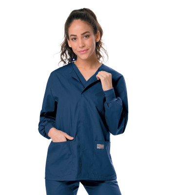 Landau Scrub Zone Snap Front, Unisex Scrub Jacket: 2 Pocket, Classic Relaxed Fit, Durable, Medical 75231-Landau