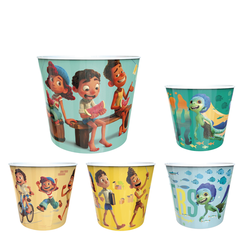 Disney and Pixar Plastic Popcorn Container and Bowls, Luca, 5-piece set slideshow image 1