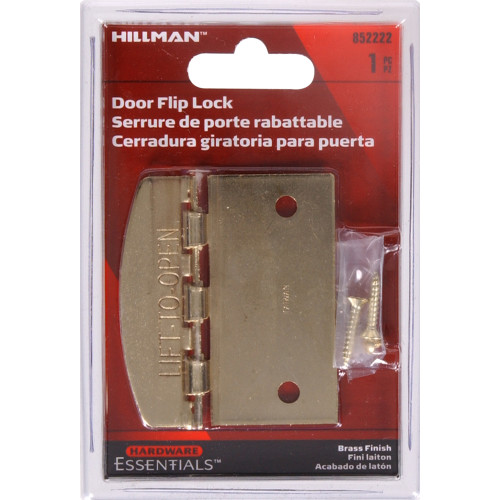 Brass Plated Flip Lock