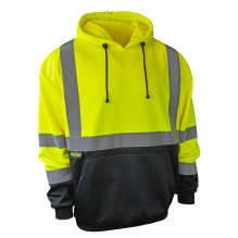 Radians SJ02B-3 Class 3 Color Blocked Hooded Sweatshirt