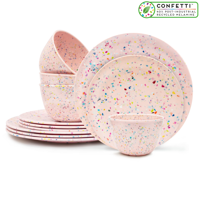 Confetti Dinnerware Set, Multicolored, 12-piece set slideshow image 1