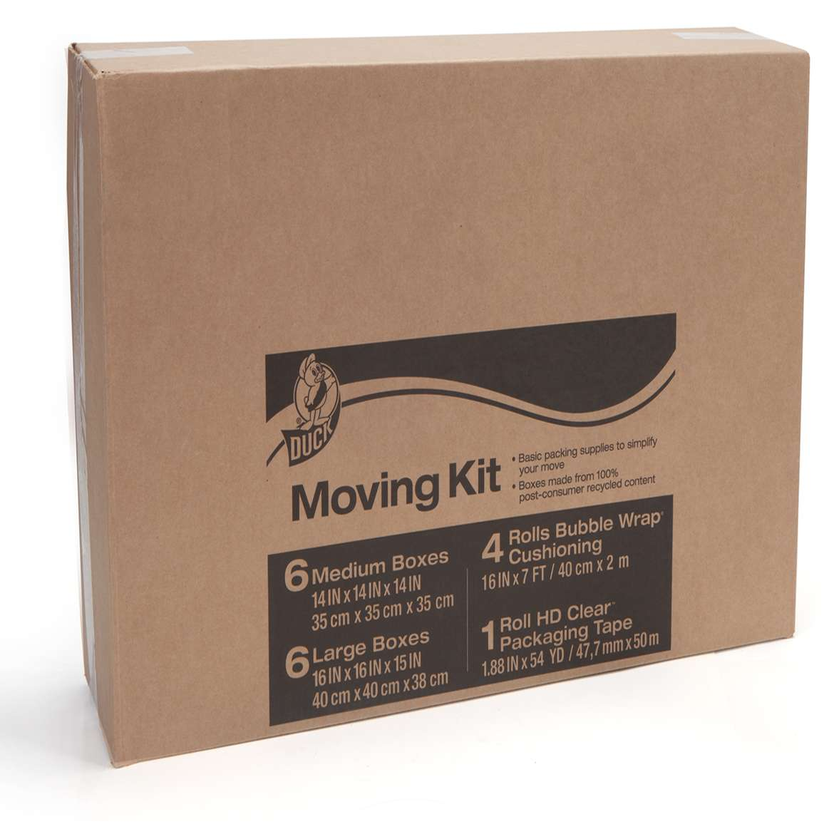 Duck® Brand Moving Kit - Includes Bubble Wrap®, Boxes and Packing Tape Image