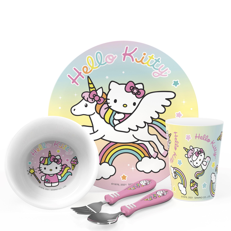 Sanrio Dinnerware Set, Hello Kitty, 5-piece set slideshow image 1