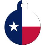 Texan Flag Large Circle Quick-Tag