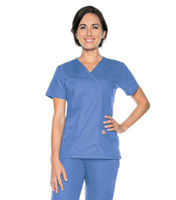 Scrub Zone Faux Wrap Tunic-Landau