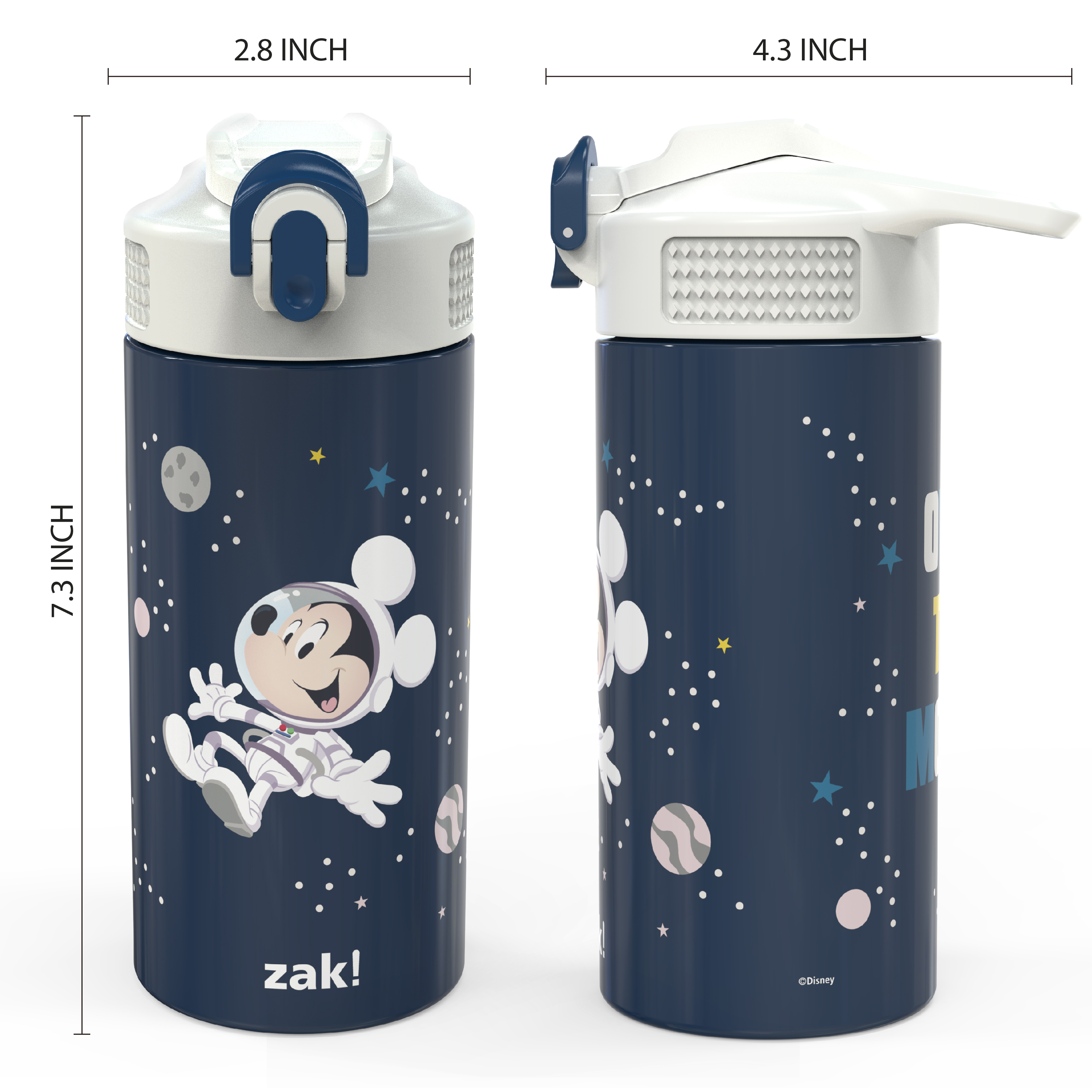Disney 14 ounce Stainless Steel Vacuum Insulated Water Bottle, Mickey Mouse slideshow image 7