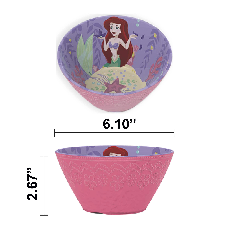 Disney Kids Plate and Bowl Set, Princess, 4-piece set slideshow image 2