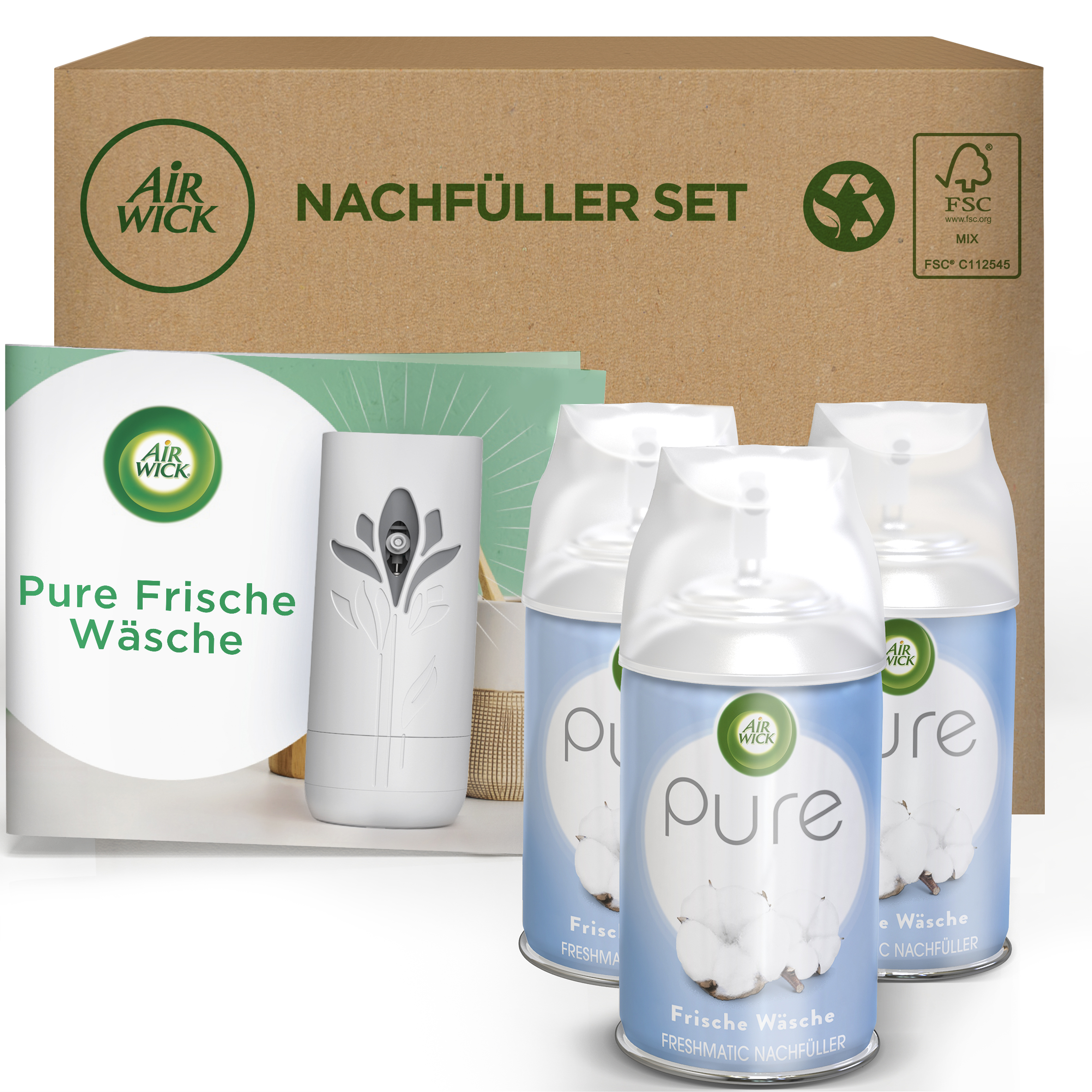 Air Wick Freshmatic Max eCom Nachfüller-Set PURE Frische Wäsche