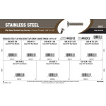 "Stainless Steel Flat-Head Socket Cap Screws Assortment (3/8""-16 & 1/2""-13 Thread)"