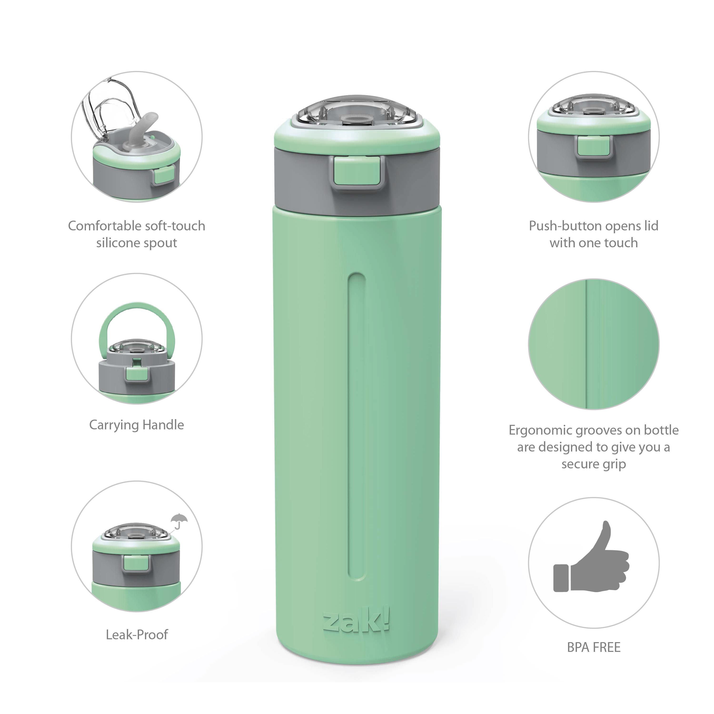 Genesis Vaccum Insulated Stainless Steel Water Bottle, Neo Mint slideshow image 6