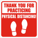 Hillman Thank You for Physical Distancing Sign (COVID-19)