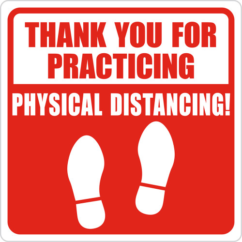 Hillman Thank You for Physical Distancing Sign (6