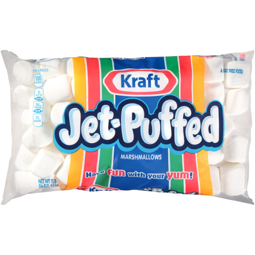 JET-PUFFED Regular Marshmallows, 16 oz. Bag (Pack of 12)