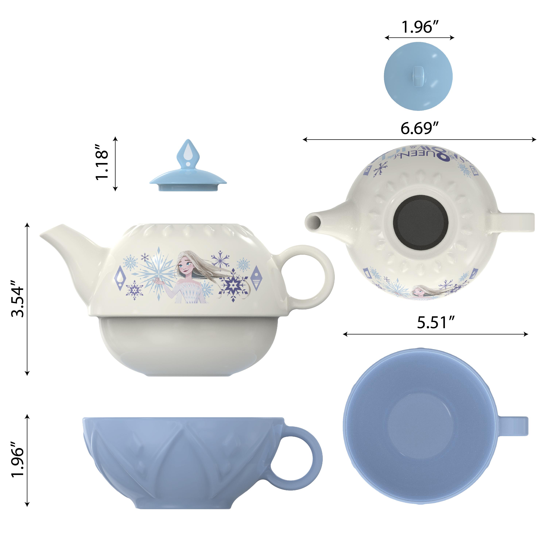 Disney Frozen 2 Movie Sculpted Ceramic Tea Set, Princess Elsa, 4-piece set slideshow image 5