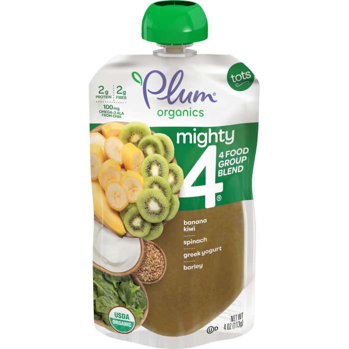 Blends Banana, Kiwi, Spinach, Greek Yogurt & Barley Tots Pouch