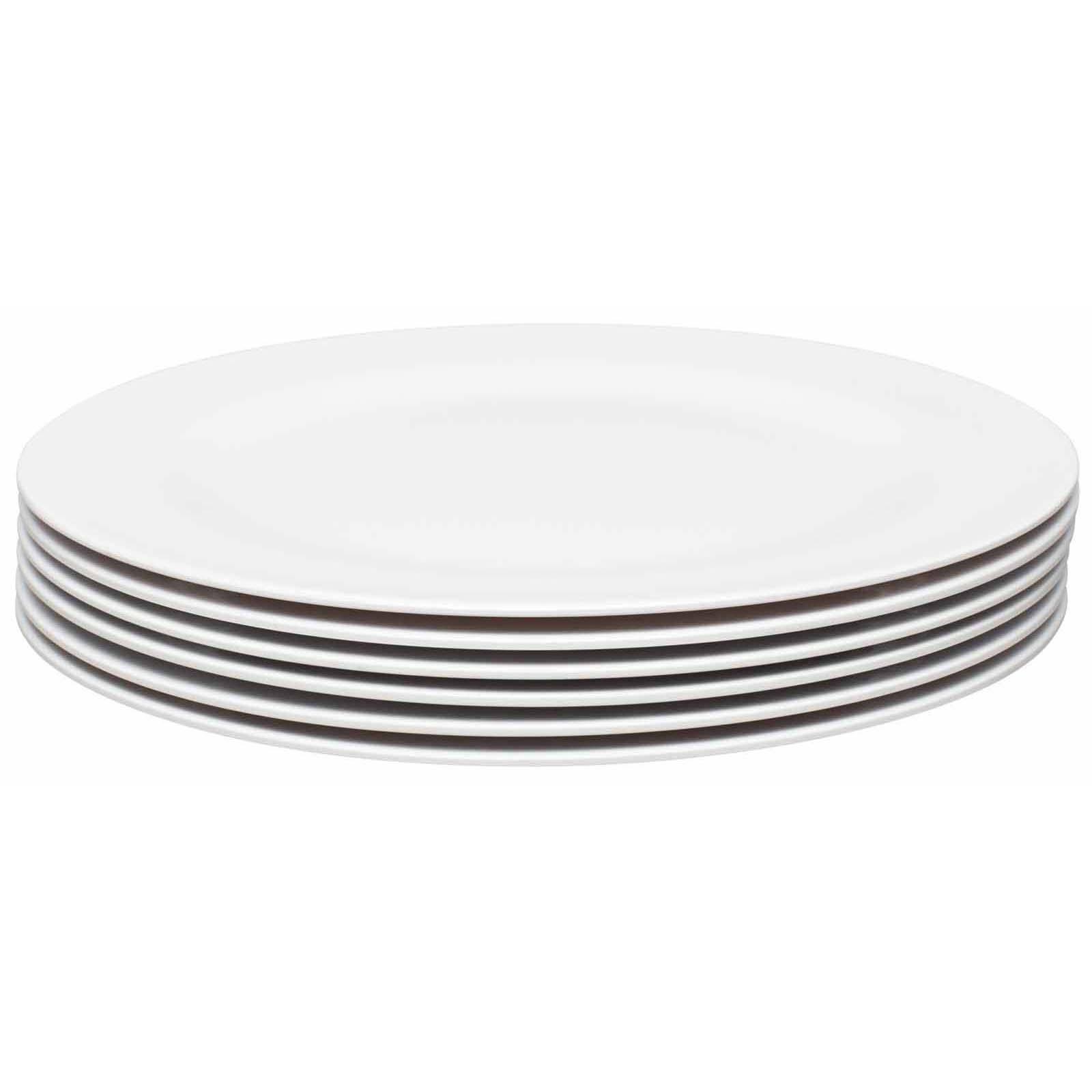 Ella Salad Plate, Eggshell White, 6-piece set slideshow image 2