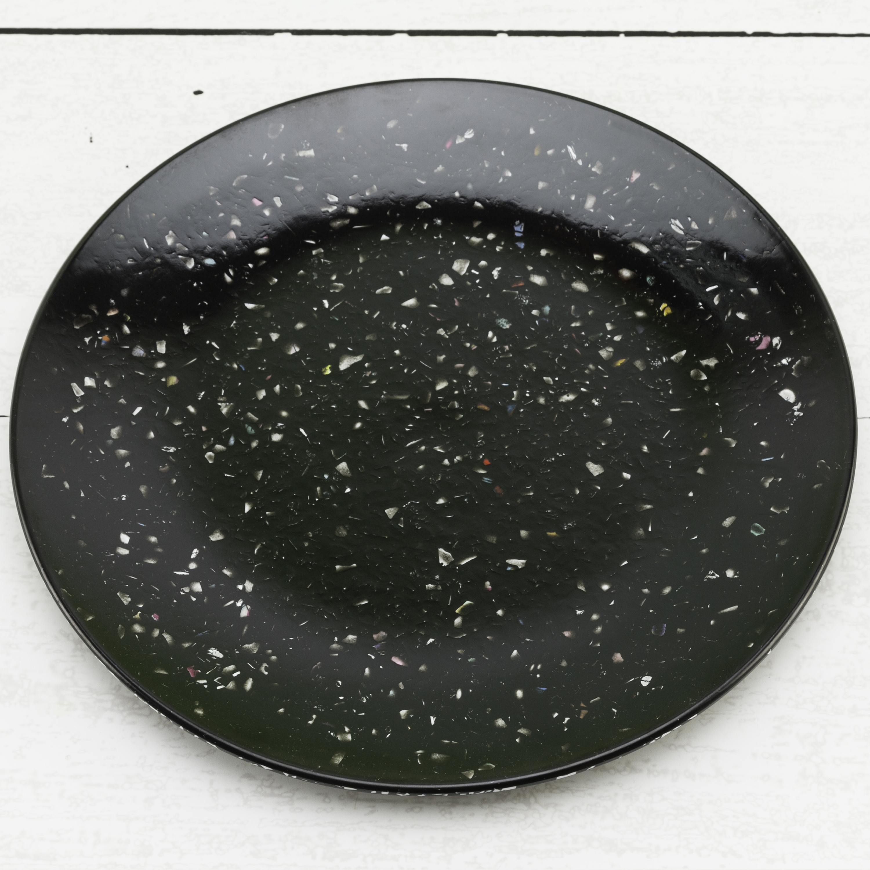 Confetti Salad Plate, Black, 6-piece set