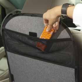 Car Seat Kick Mat With Storage Pocket