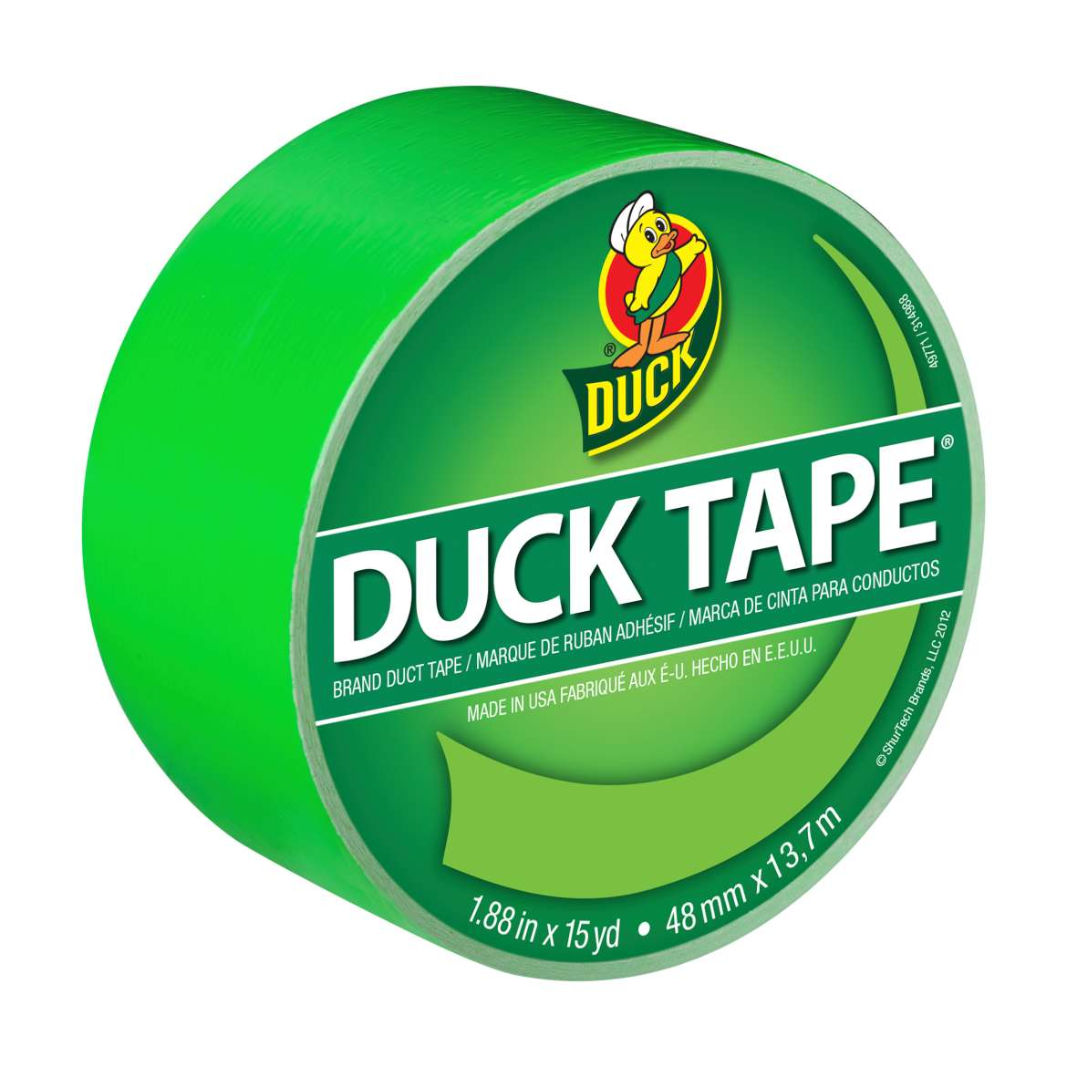 Color Duck Tape® Brand Duct Tape - Neon Green, 1.88 in. x 15 yd. Image