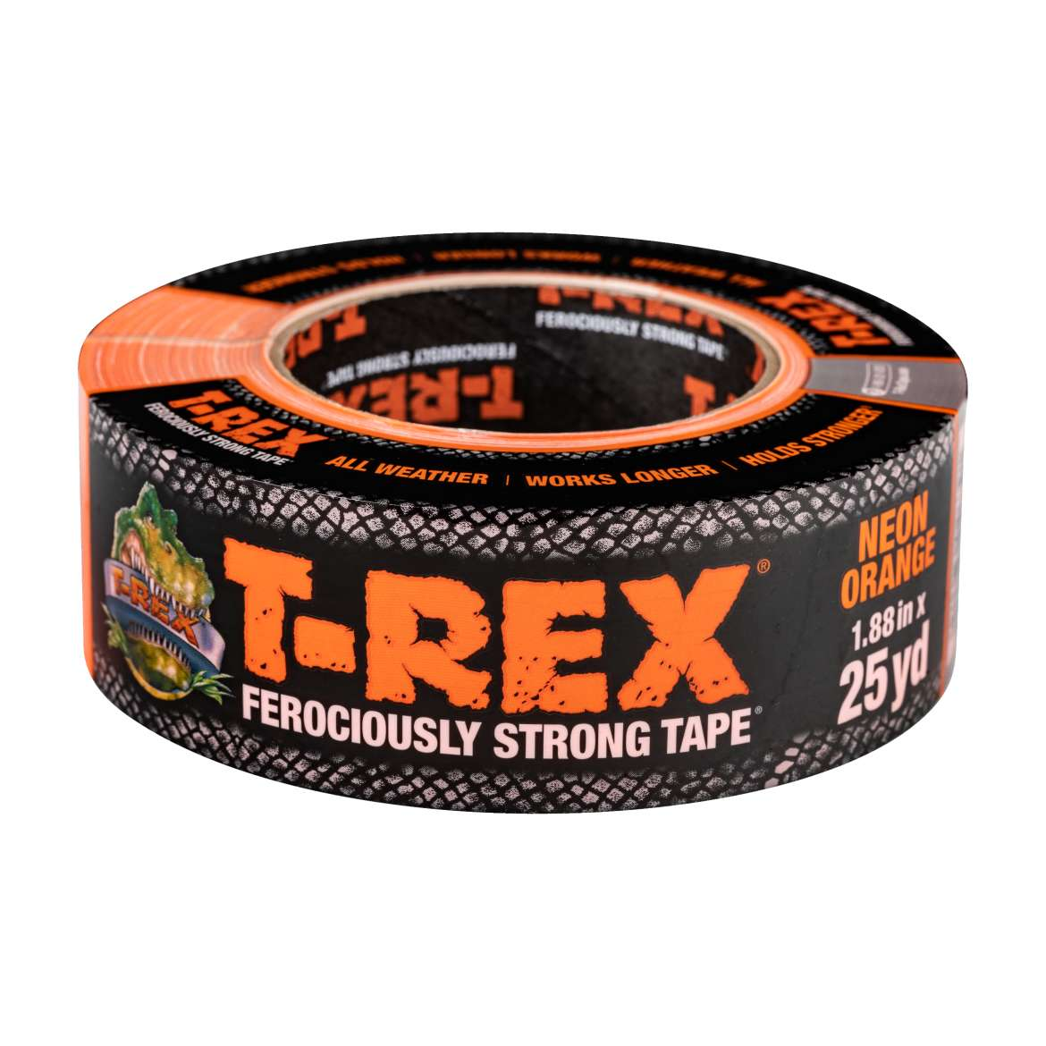 T-Rex® Tape - Neon Orange, 1.88 in. x 25 yd.